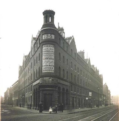 Commercial Street, the first Peabody flats