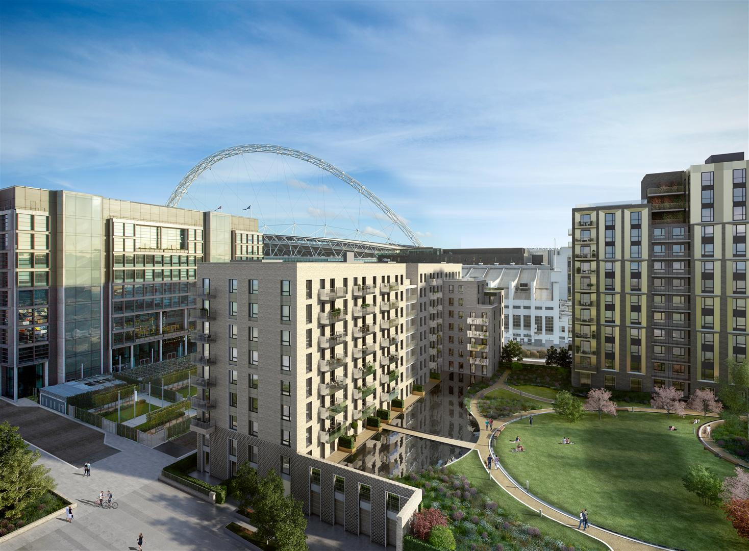 Quintain and Keystone start private rental flats in Wembley